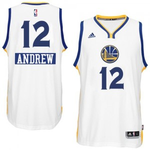 Maillot Adidas Blanc 2014-15 Christmas Day Swingman Golden State Warriors - Andrew Bogut #12 - Homme