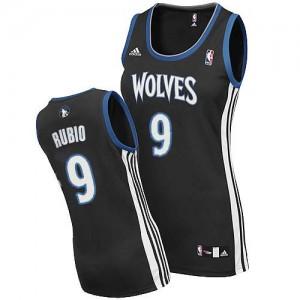 Maillot Swingman Minnesota Timberwolves NBA Alternate Noir - #9 Ricky Rubio - Femme