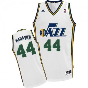 Maillot Adidas Blanc Home Swingman Utah Jazz - Pete Maravich #44 - Homme