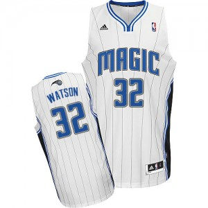 Orlando Magic C.J. Watson #32 Home Swingman Maillot d'équipe de NBA - Blanc pour Homme