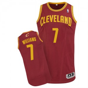 Maillot NBA Authentic Mo Williams #7 Cleveland Cavaliers Road Vin Rouge - Homme