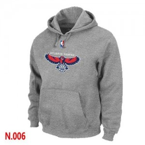 Sweat à capuche NBA Gris Atlanta Hawks Homme