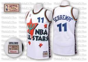 Oklahoma City Thunder Detlef Schrempf #11 Throwback 1995 All Star Swingman Maillot d'équipe de NBA - Blanc pour Homme