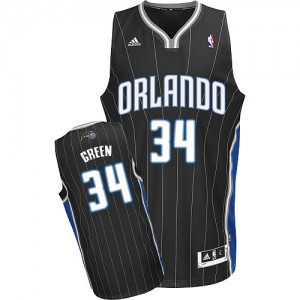 Maillot NBA Orlando Magic #34 Willie Green Noir Adidas Swingman Alternate - Homme