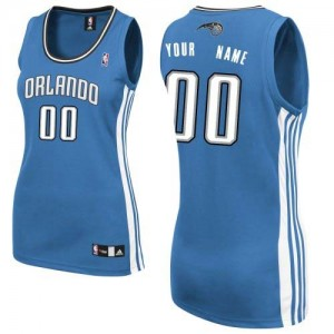Maillot NBA Authentic Personnalisé Orlando Magic Road Bleu royal - Femme