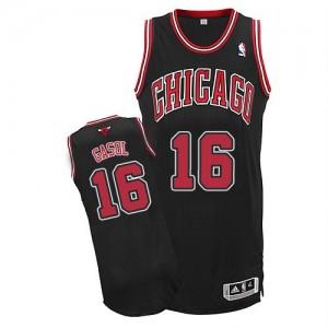 Maillot NBA Noir Pau Gasol #16 Chicago Bulls Alternate Authentic Homme Adidas