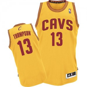 Maillot NBA Or Tristan Thompson #13 Cleveland Cavaliers Alternate Authentic Homme Adidas