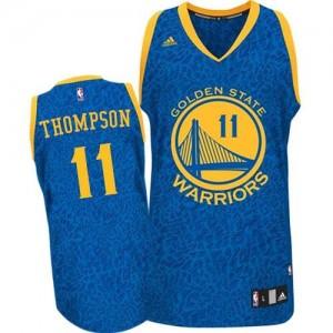 Maillot NBA Bleu Klay Thompson #11 Golden State Warriors Crazy Light Authentic Homme Adidas
