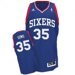 Maillot Adidas Bleu royal Alternate Swingman Philadelphia 76ers - Henry Sims #35 - Homme