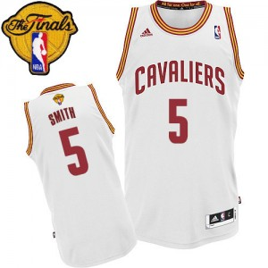 Maillot Swingman Cleveland Cavaliers NBA Home 2015 The Finals Patch Blanc - #5 J.R. Smith - Homme