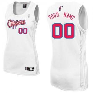 Los Angeles Clippers Personnalisé Adidas Home Blanc Maillot d'équipe de NBA à vendre - Authentic pour Femme