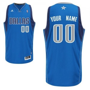 Maillot NBA Bleu royal Swingman Personnalisé Dallas Mavericks Road Enfants Adidas