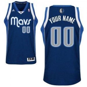 Maillot NBA Dallas Mavericks Personnalisé Swingman Bleu marin Adidas Alternate - Enfants