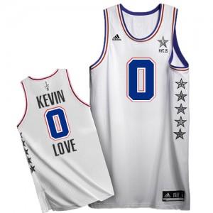 Cleveland Cavaliers Kevin Love #0 2015 All Star Swingman Maillot d'équipe de NBA - Blanc pour Homme
