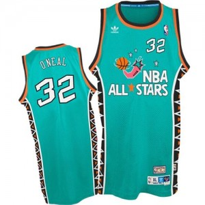Maillot NBA Bleu clair Shaquille O'Neal #32 Orlando Magic 1996 All Star Throwback Authentic Homme Mitchell and Ness
