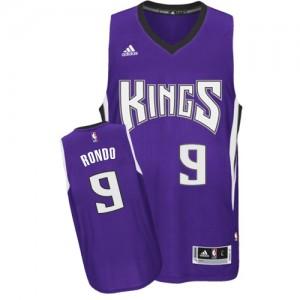 Maillot NBA Violet Rajon Rondo #9 Sacramento Kings Road Authentic Homme Adidas