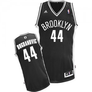 Brooklyn Nets #44 Adidas Road Noir Swingman Maillot d'équipe de NBA en ligne pas chers - Bojan Bogdanovic pour Homme