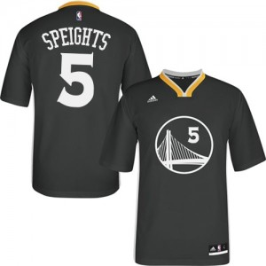 Maillot Authentic Golden State Warriors NBA Alternate Noir - #5 Marreese Speights - Homme