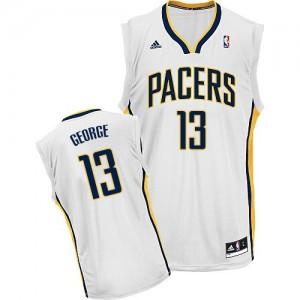 Indiana Pacers #13 Adidas Home Blanc Swingman Maillot d'équipe de NBA la meilleure qualité - Paul George pour Enfants