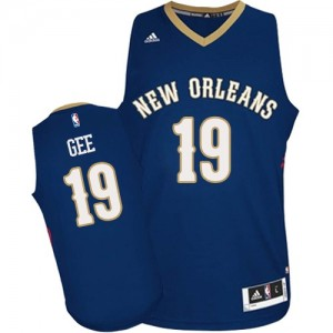 Maillot Authentic New Orleans Pelicans NBA Road Bleu marin - #19 Alonzo Gee - Homme