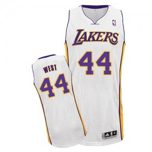 Maillot Authentic Los Angeles Lakers NBA Alternate Blanc - #44 Jerry West - Homme