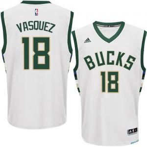 Maillot NBA Swingman Greivis Vasquez #18 Milwaukee Bucks Home Blanc - Homme