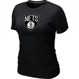 Brooklyn Nets Big & Tall Noir T-Shirts d'équipe de NBA Promotions - pour Femme