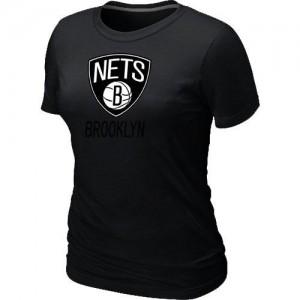 Brooklyn Nets Big & Tall Noir T-Shirts d'équipe de NBA Promotions - pour Femme