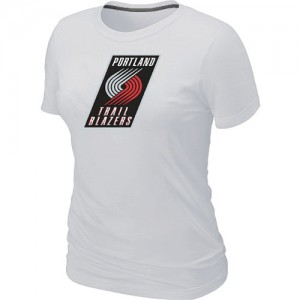 T-Shirts NBA Portland Trail Blazers Blanc Big & Tall - Femme