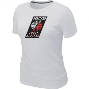 T-Shirts NBA Portland Trail Blazers Blanc Big & Tall - Femme