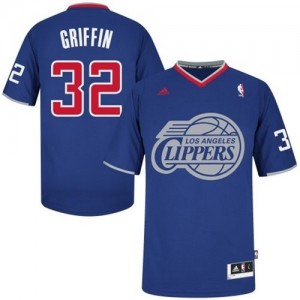Maillot Adidas Bleu royal 2013 Christmas Day Swingman Los Angeles Clippers - Blake Griffin #32 - Homme
