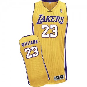 Maillot NBA Los Angeles Lakers #23 Louis Williams Or Adidas Authentic Home - Homme
