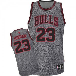 Chicago Bulls Michael Jordan #23 Static Fashion Authentic Maillot d'équipe de NBA - Gris pour Homme
