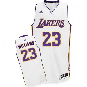 Maillot NBA Blanc Louis Williams #23 Los Angeles Lakers Alternate Swingman Homme Adidas