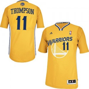 Maillot NBA Golden State Warriors #11 Klay Thompson Or Adidas Swingman Alternate - Femme