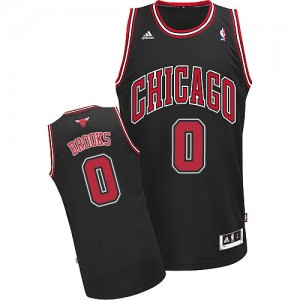 Maillot NBA Chicago Bulls #0 Aaron Brooks Noir Adidas Swingman Alternate - Homme