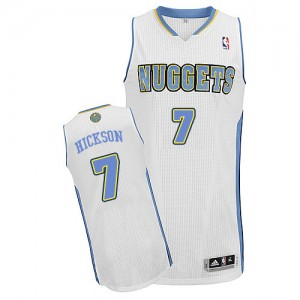Maillot NBA Authentic JJ Hickson #7 Denver Nuggets Home Blanc - Homme