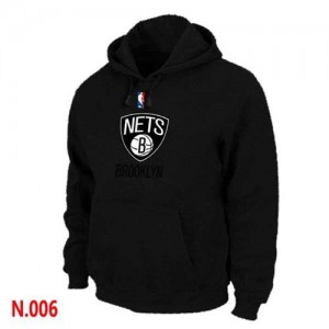 Sweat à capuche NBA Noir Brooklyn Nets Homme
