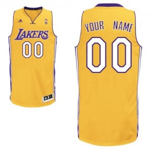 Maillot Los Angeles Lakers NBA Home Or - Personnalisé Swingman - Enfants