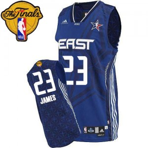 Maillot NBA Authentic LeBron James #23 Cleveland Cavaliers 2010 All Star 2015 The Finals Patch Bleu - Homme