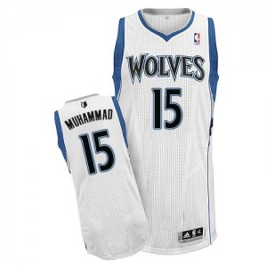 Maillot Authentic Minnesota Timberwolves NBA Home Blanc - #15 Shabazz Muhammad - Homme