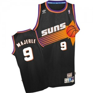 Maillot NBA Phoenix Suns #9 Dan Majerle Noir Adidas Authentic Throwback - Homme