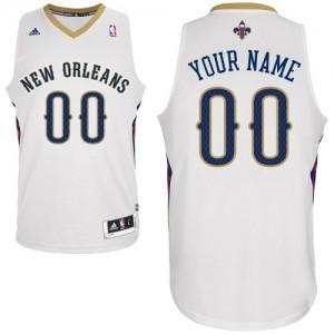 New Orleans Pelicans Swingman Personnalisé Home Maillot d'équipe de NBA - Blanc pour Homme