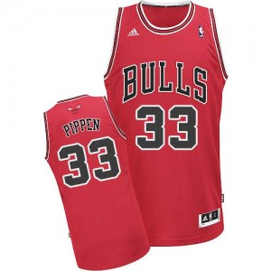 Maillot NBA Swingman Scottie Pippen #33 Chicago Bulls Road Rouge - Homme