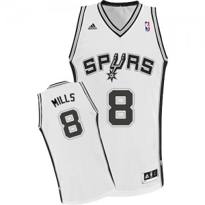 Maillot Swingman San Antonio Spurs NBA Home Blanc - #8 Patty Mills - Homme