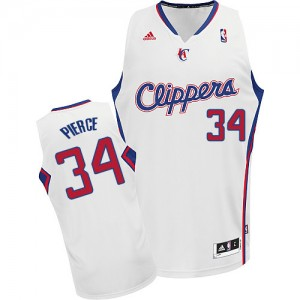 Maillot NBA Blanc Paul Pierce #34 Los Angeles Clippers Home Swingman Homme Adidas