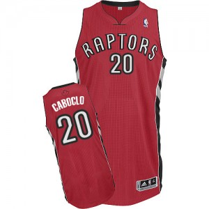 Maillot Authentic Toronto Raptors NBA Road Rouge - #20 Bruno Caboclo - Homme