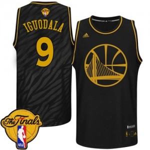 Maillot Swingman Golden State Warriors NBA Precious Metals Fashion 2015 The Finals Patch Noir - #9 Andre Iguodala - Homme