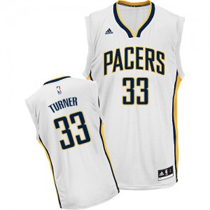 Maillot NBA Indiana Pacers #33 Myles Turner Blanc Adidas Swingman Home - Homme