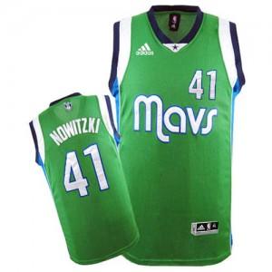 Dallas Mavericks #41 Adidas Vert Swingman Maillot d'équipe de NBA pas cher en ligne - Dirk Nowitzki pour Homme